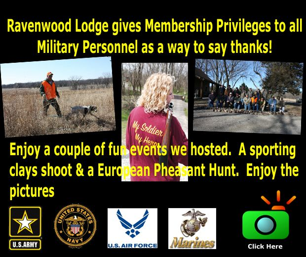 Ravenwood Military Membership Privilages